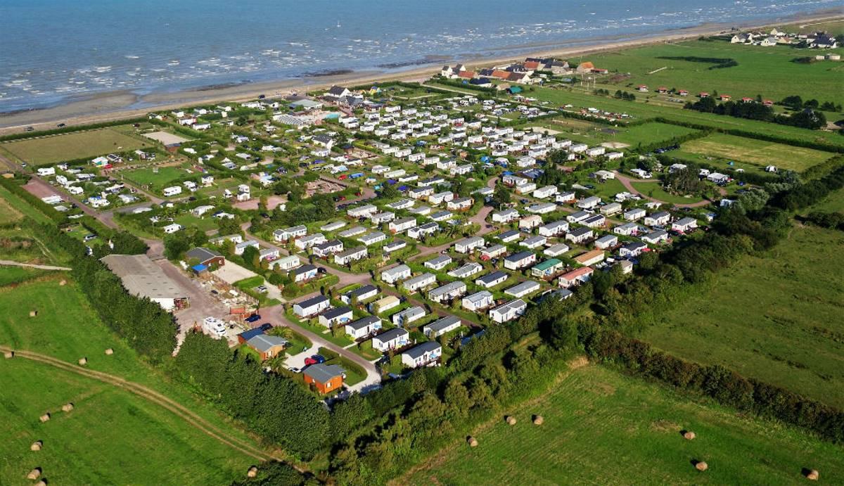 5-sterren camping direct aan het strand in Normandie