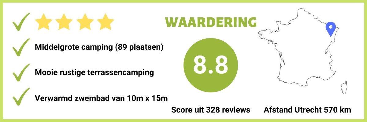 Goede 4-sterren camping vlakbij Gerardmer