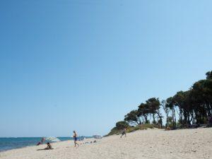 camping direct aan het strand op Corsica