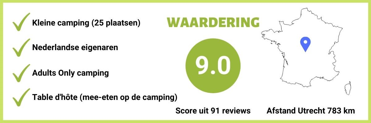 Adults only Camping in Midden Frankrijk