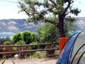 Camping aan het lac de Sainte Croix