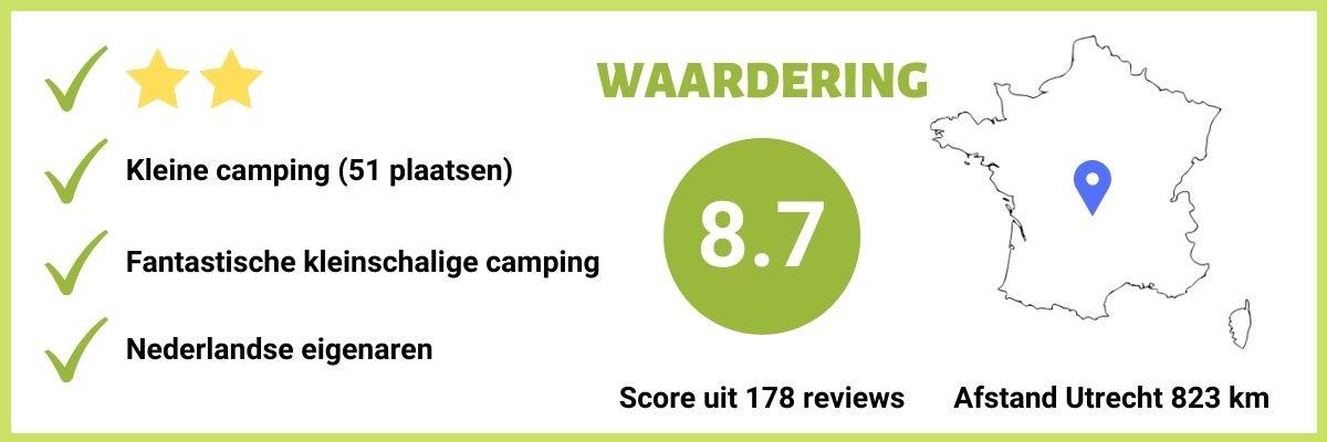 Kleine camping in Midden Frankrijk Nederlandse Eigenaren