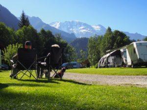 4-sterren camping aan de voet van de Mont Blanc