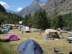 Gemeentecamping op 1700 meter hoogte in de Alpen